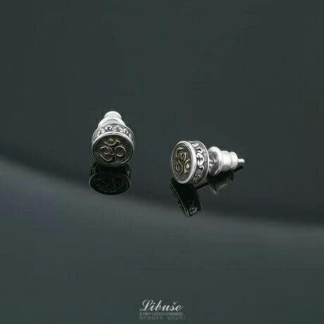 Libera 925 sterling silver jewelry men's men's tide men's single personality earrings earrings light  amulet