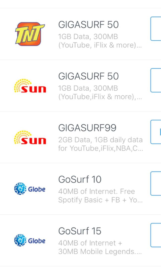 Load Globe Smart Sun Cellular,Cignal online on Carousell