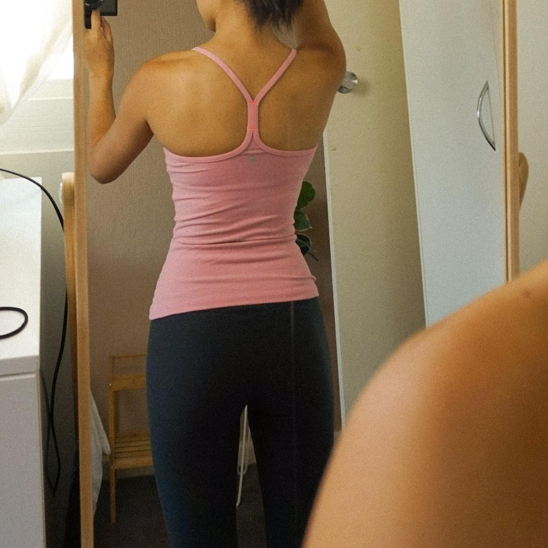 Lululemon Pink Power Y Tank Top