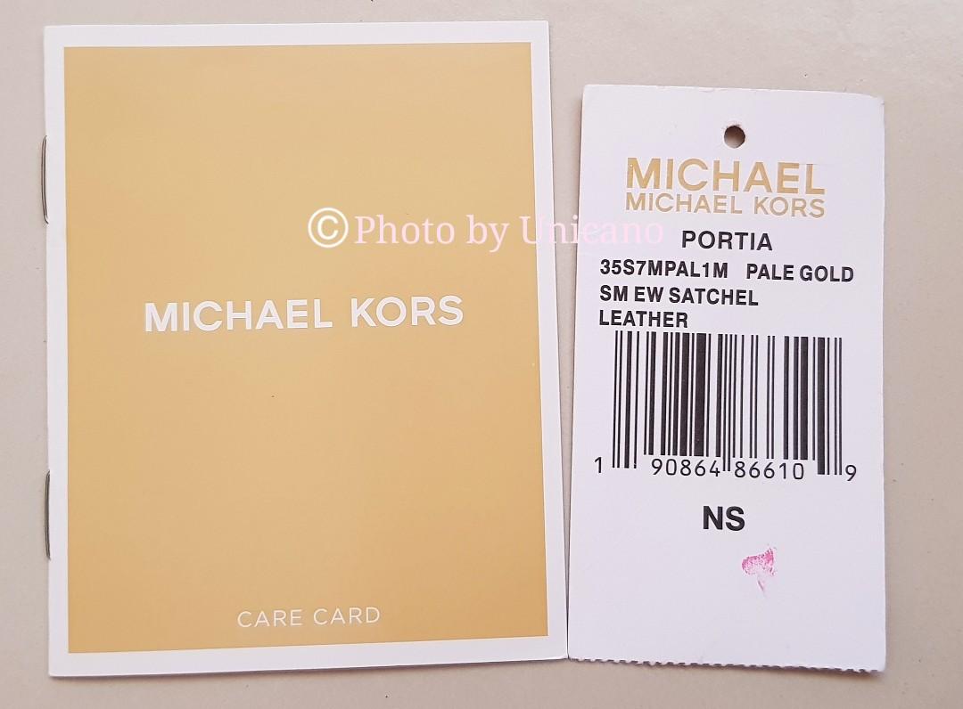 14c956f64e5726 Michael Kors Gold Portia Small Leather Satchel / Sling / Handbag ...