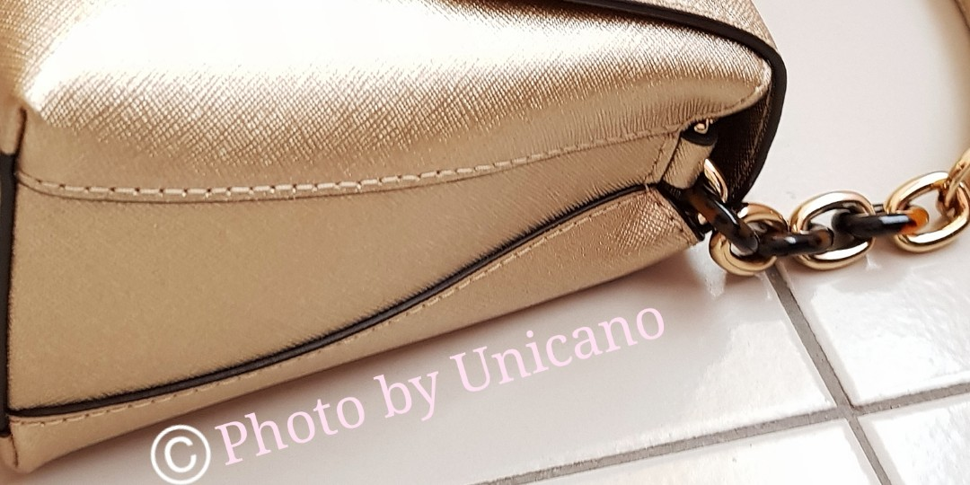 d9fd7a16af1651 Michael Kors Gold Portia Small Leather Satchel / Sling / Handbag (Gold)!,  Women's Fashion, Bags & Wallets, Handbags on Carousell
