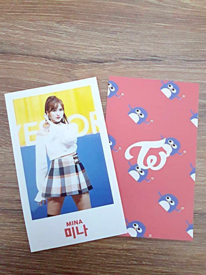 Mina twice birthday event free photocard giveaways