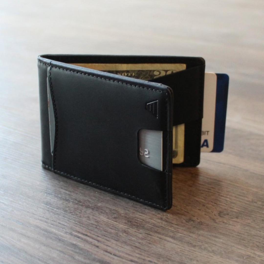 Minimalist Slim Wallet RFID blocking - Andar Ranger in Black