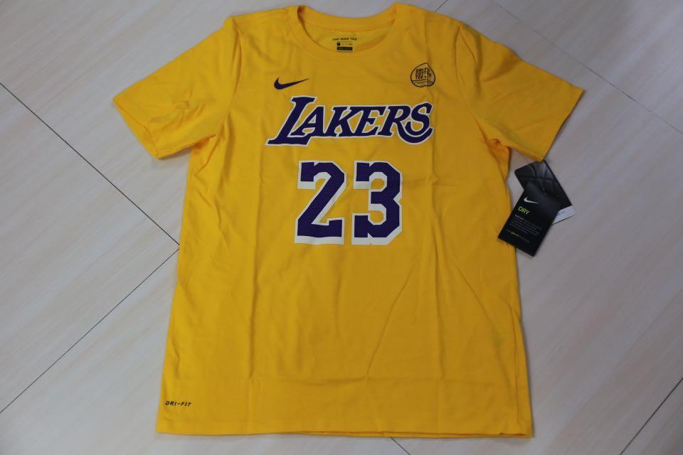 68ad6991a6c 🏀美版青年尺碼🏀NBA Nike LA Lakers Lebron James tee US Youth Size ...
