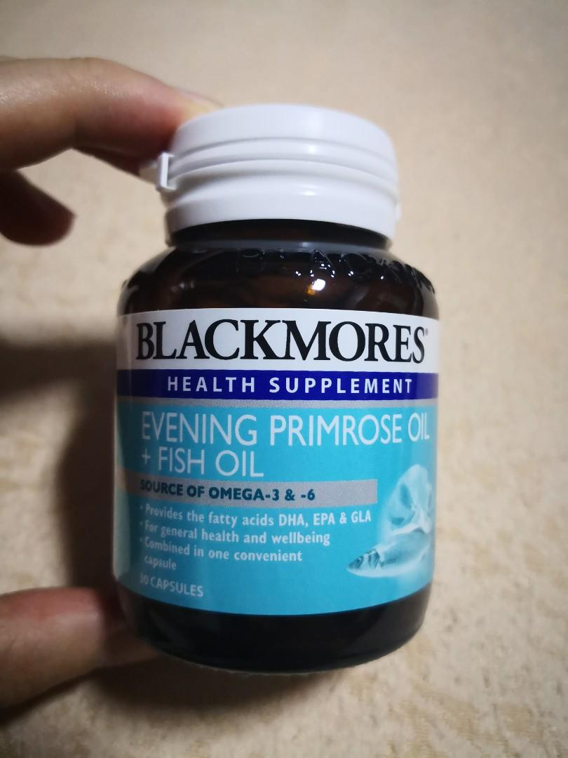 NEW) Blackmores Evening Primrose Oil + Fish Oil supplements