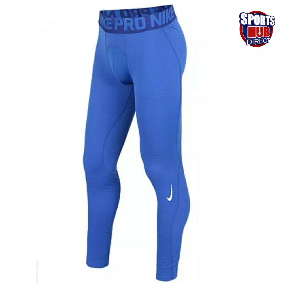 08201ca671a10 Nike Pro Mens Tights Blue Dri-Fit Material, Sports, Sports Apparel ...