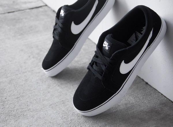 Nike Sb Satire Ii Skate Shoes Black And White Mens Men S Fashion