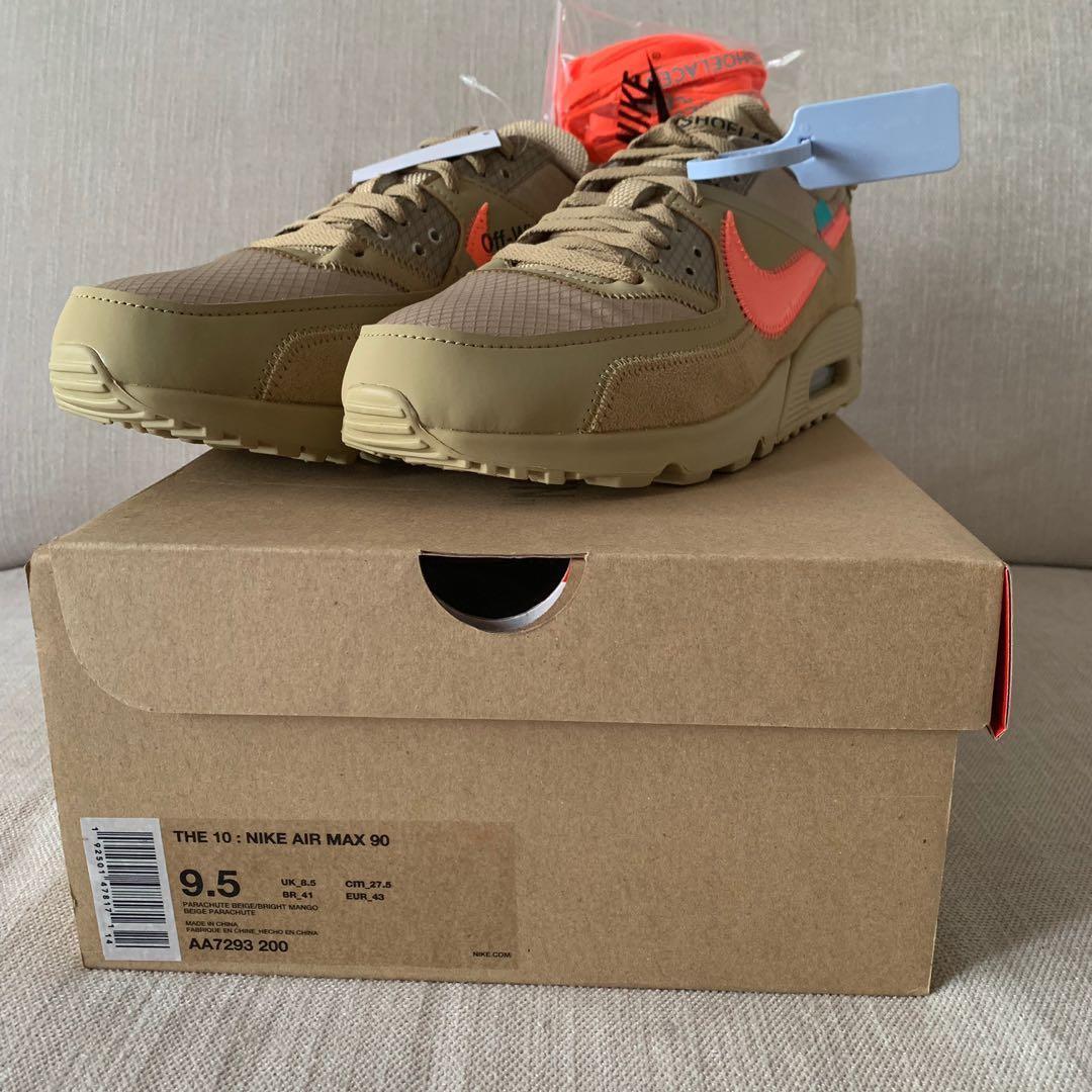 Nike X Off White Air Max 90 Desert Ore Men S Fashion Footwear