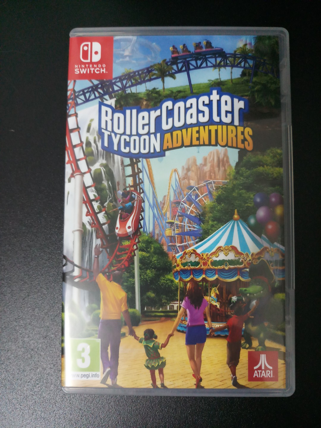 Nintendo Switch Game - Roller Coaster Tycoon Adventures 99%新
