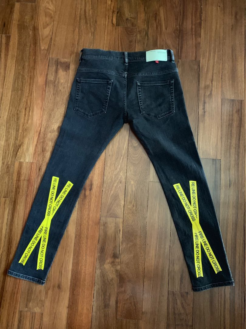 260c4422 Off-White Firetape Skinny Jeans, Men's Fashion, Clothes, Bottoms on ...