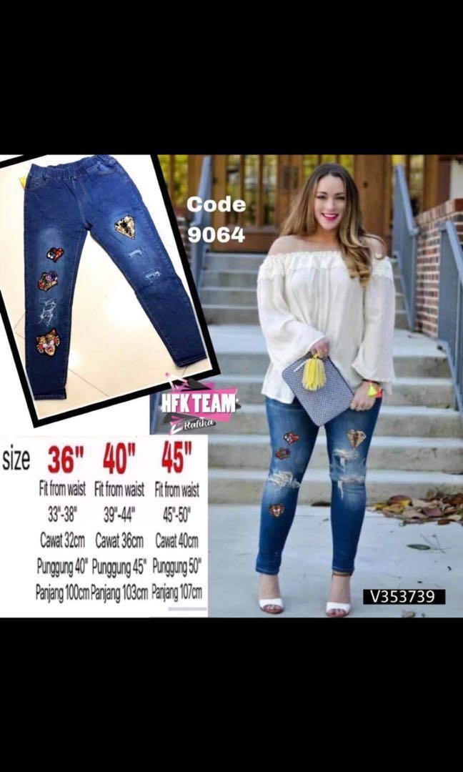 plus size stretchable jeans size 40