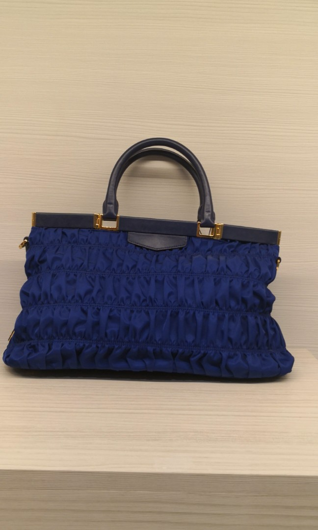 1c7382f3c3db Prada Nappa Blue Bag, Luxury, Bags & Wallets, Handbags on Carousell