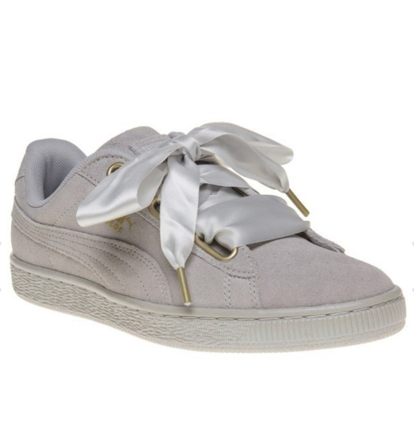 finest selection d50bf f462c Authentic Puma Suede Heart Grey Satin