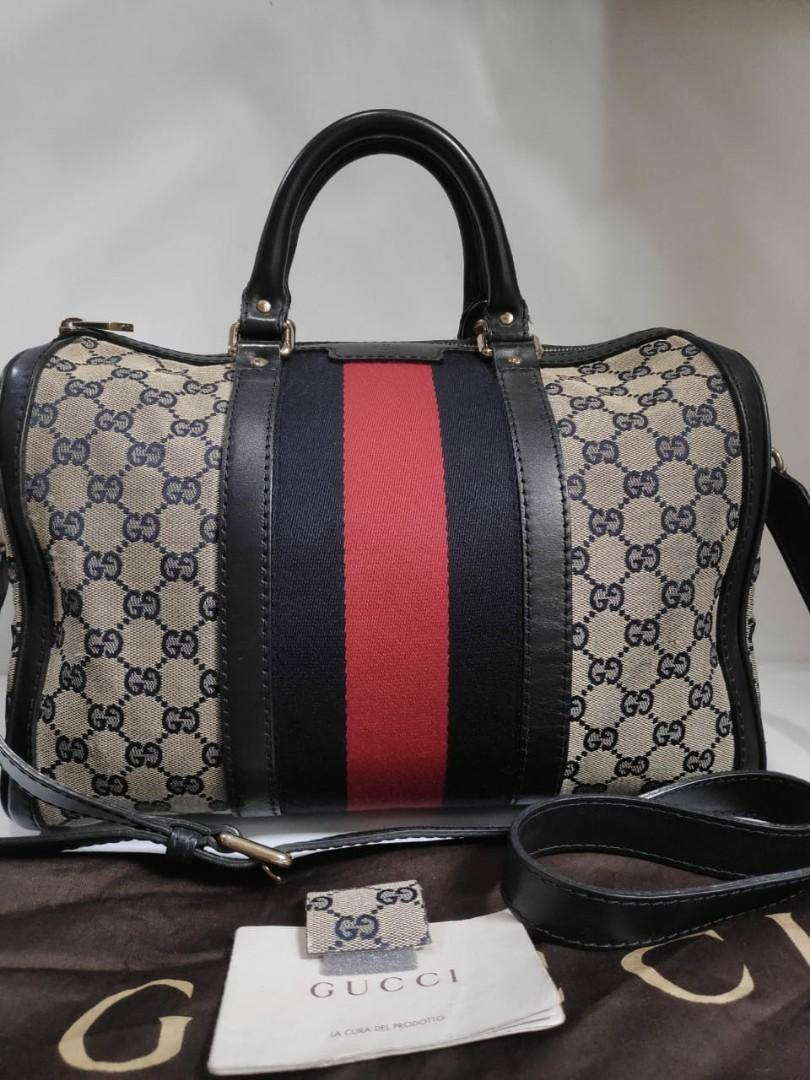 Reprice .....Gucci Boston Navy with longstrap, db, sampleleather, booklet