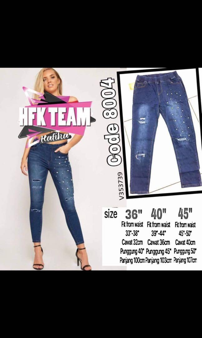 Ripped plus size jeans S36