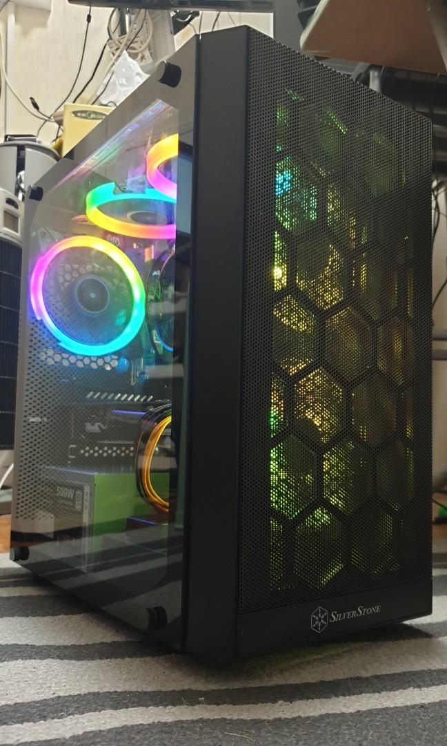 Ryzen 3 2200G, RX580 8GB, RAM 16GB, SSD 240GB+ HDD 2TB, ASRock B450M Pro4,  550w PSU