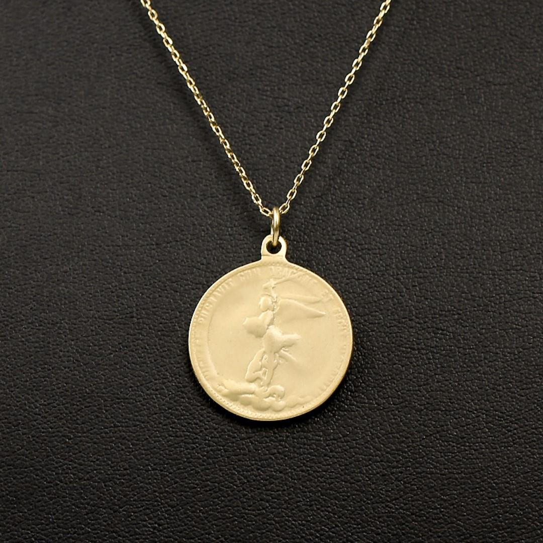S925 Plated Gold Angel exorcism sterling silver Angels Exorcism necklace male and female collarbone chain