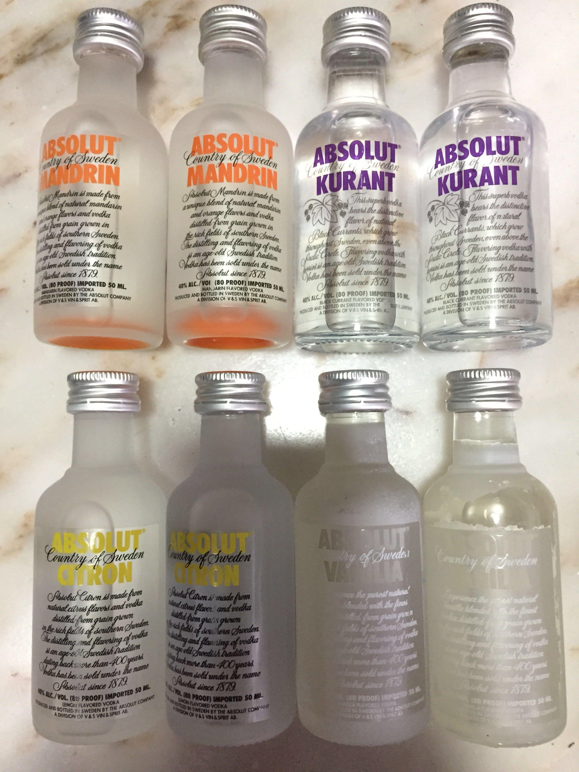 Sales Absolut Vodka miniatures set collectibles , Vintage