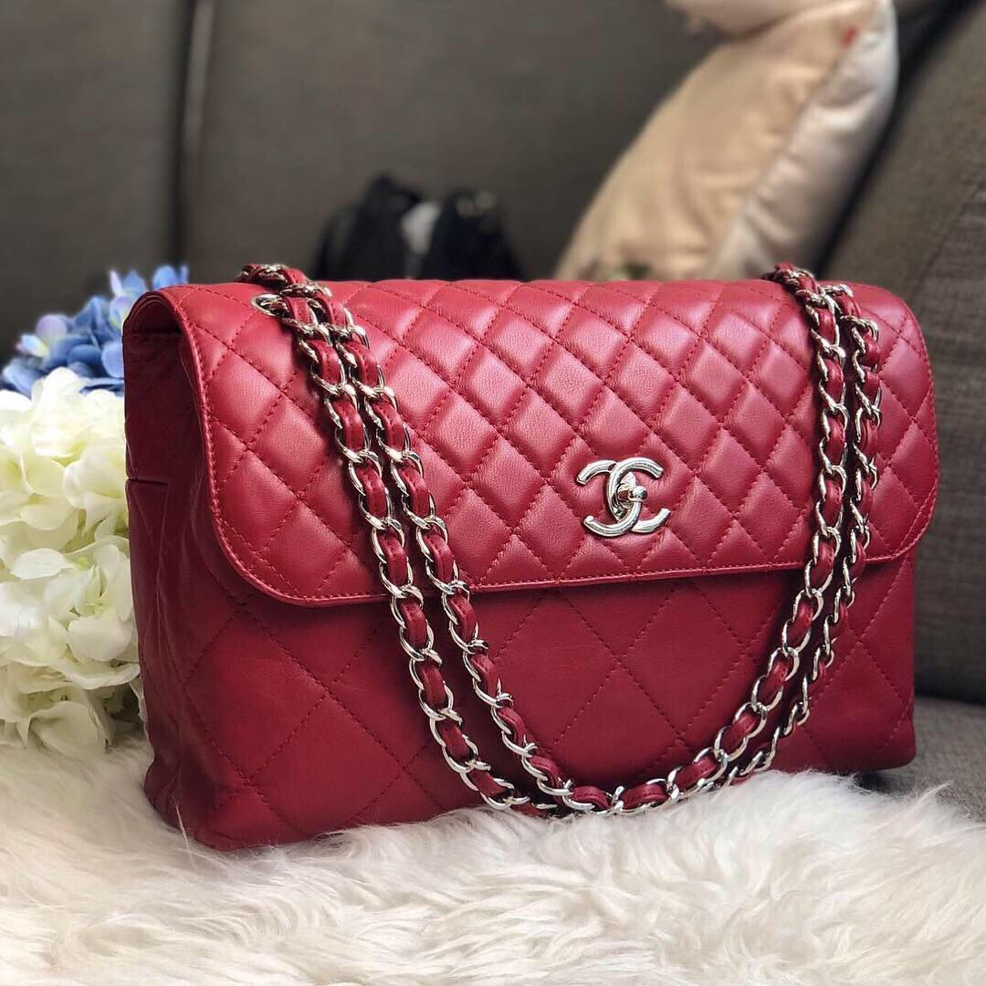 6c2f10fc4c16 ❌SOLD!❌ Good Deal! Chanel Jumbo In the Business Flap in Dark Red ...