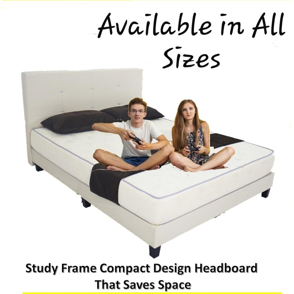 Study Frame Crystal Sleek Bed Furniture Beds Mattresses On Carousell