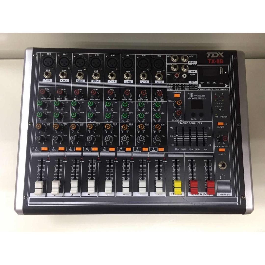 TDX TX-8B 8-Channel Compact Power Mixer 320Wx2