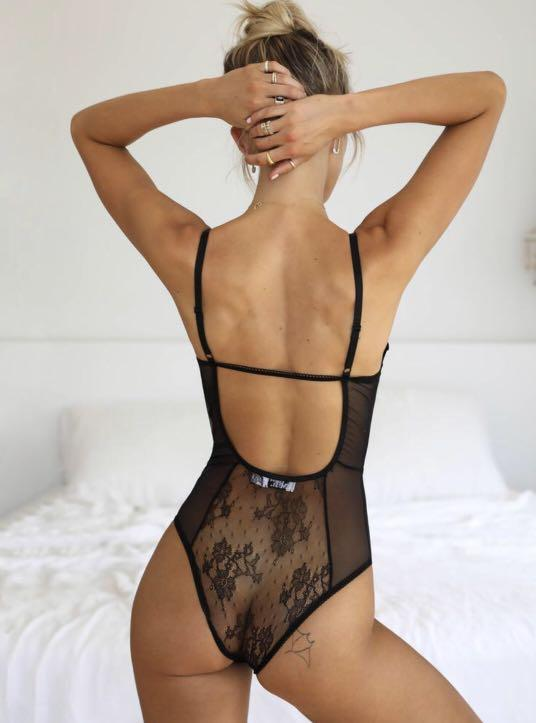 Tigermist Bodysuit Lingerie Black