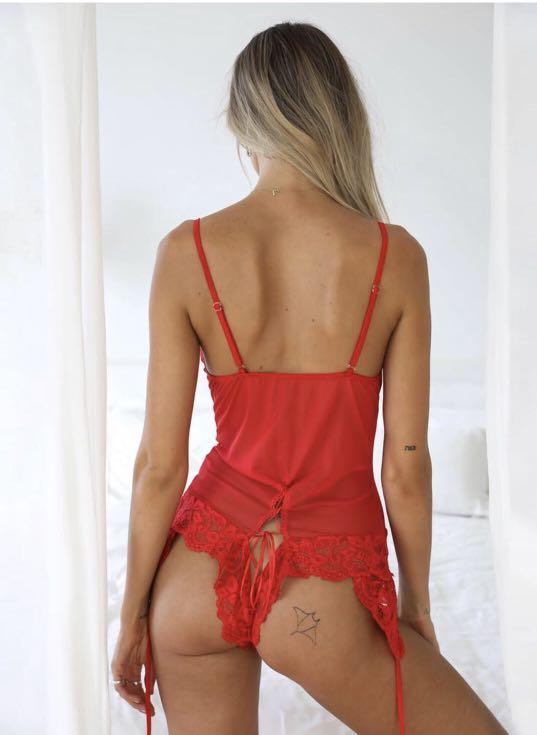 Tigermist Bodysuit Lingerie Red