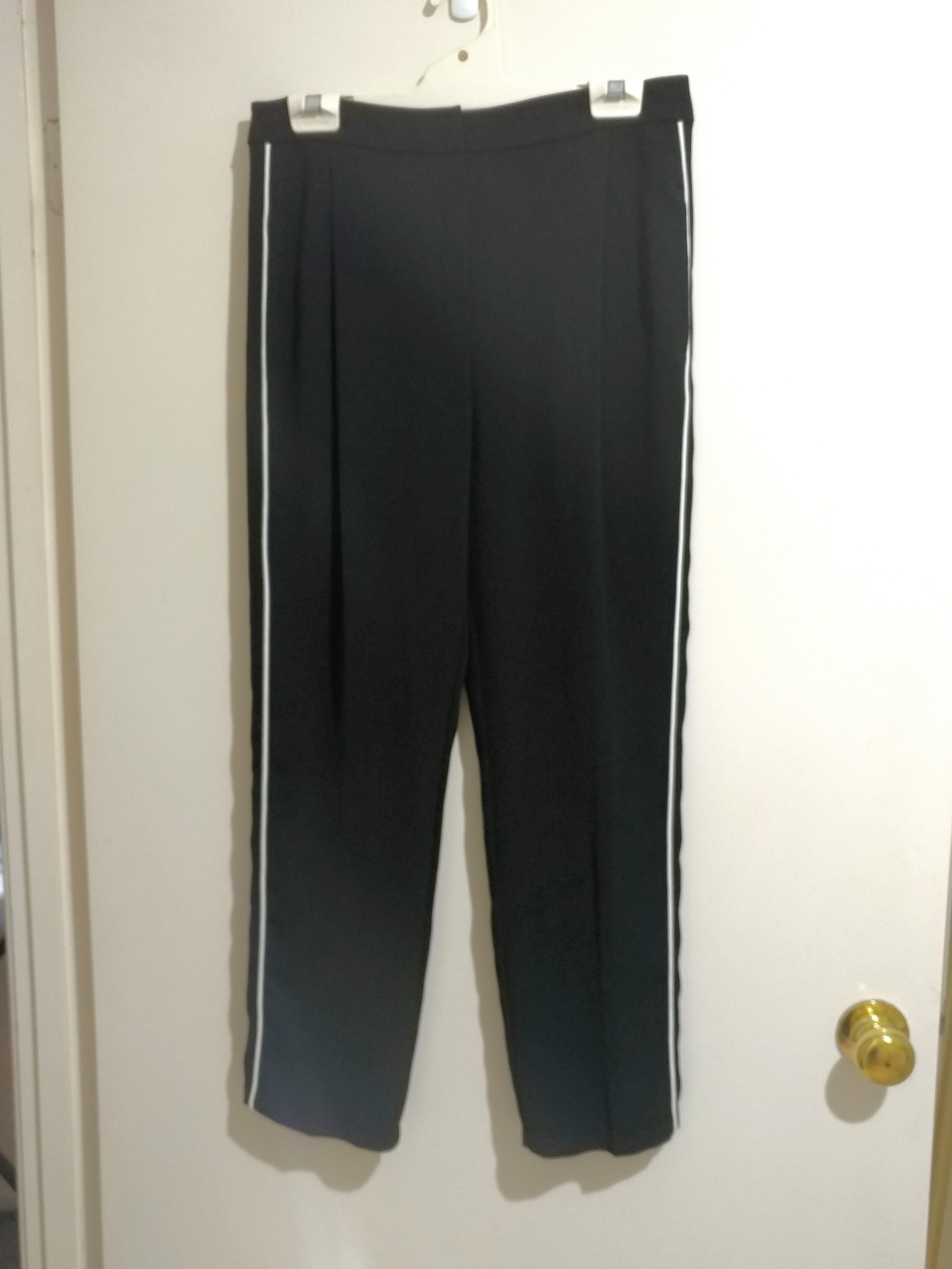 Topshop Black Side Pipe Jogger Pants AU10