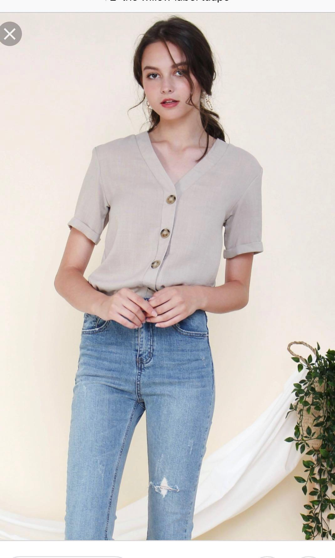 TWL Marilyn Short Sleeve (Taupe)