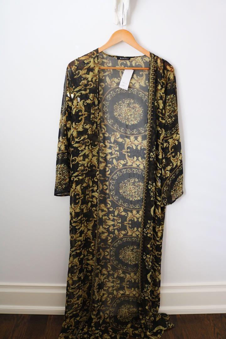 Versace Inspired Bodysuit + Longline Kimono/Robe Set