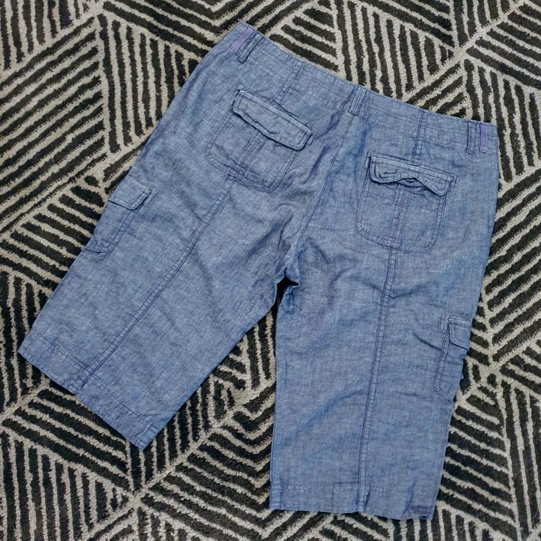 Women's size 14 'WITCHERY' Gorgeous indigo  cargo style shorts - AS NEW