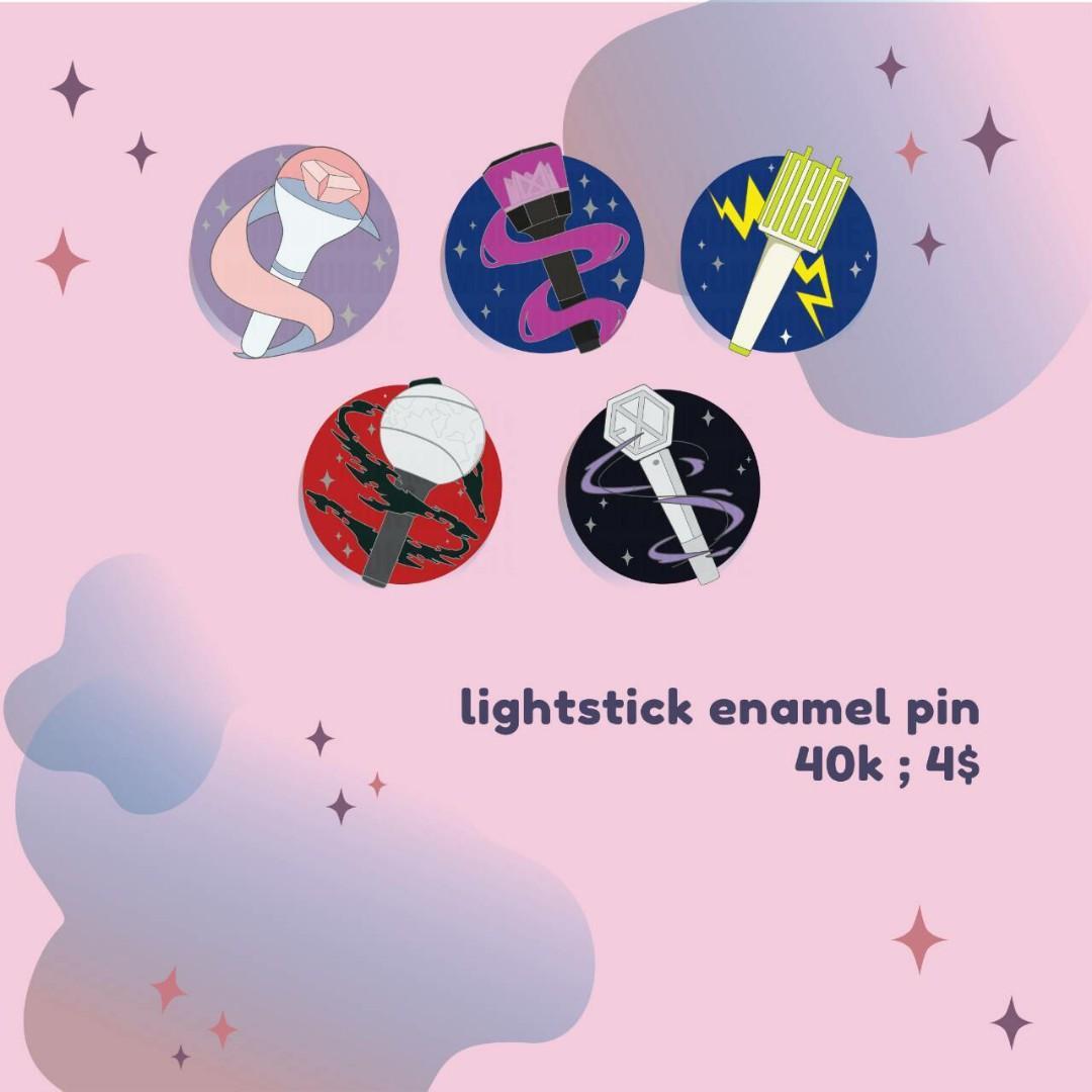 [WTS] Kpop Lightstick Enamel Pins