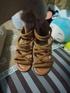 sandal sepatu gladiator coklat