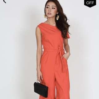 *price reduced* BNWT MDS Toga Romper in Orange Red