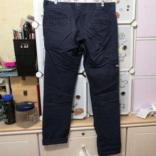 Dickies navy skinny chino pants 深藍 長褲
