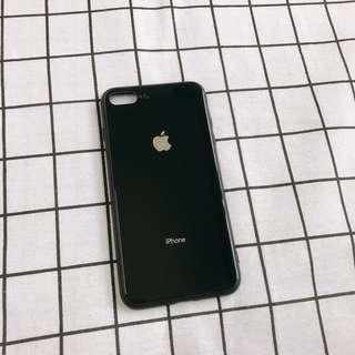 🚚 iphone7plus/8plus 曜石黑玻璃手機殼
