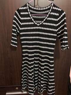 🚚 Knitted print skater dress