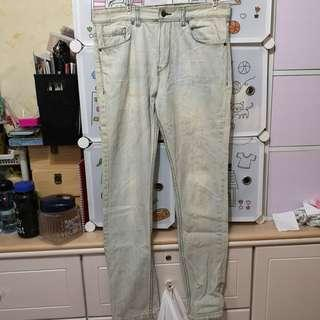 Pull & bear skinny light denim jeans pants 洗水牛仔褲