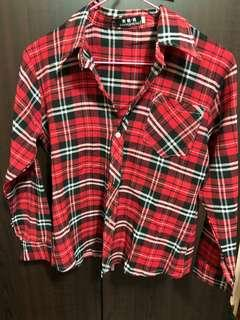 🚚 Red flannel Top