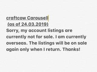 craftcow Listings are currently not for sale