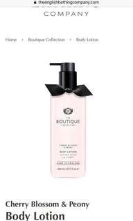 The Boutique Collection Body Lotion (Cherry Blossom and Peony)