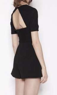 Klaara black play suit/romper