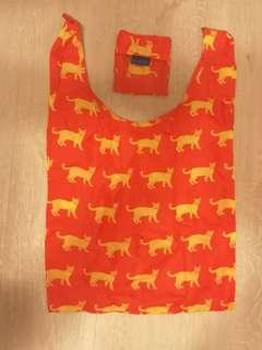 🚚 Baggu authentic cat print eco shopping bag