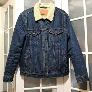 Levis blue Denim sherpa Jacket 牛仔羊毛外套