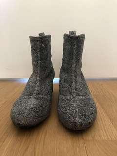 Zara sock sparkly boots!