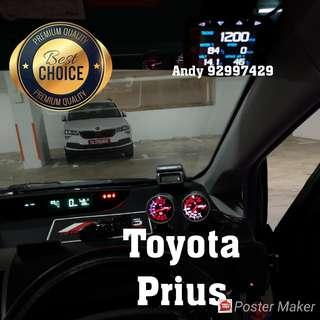 Toyota Prius Lufi X1 Revolution OBD OBD2 Gauge Meter display