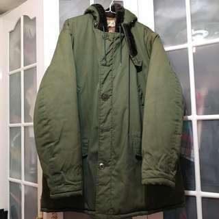 LL bean 厚身夾綿中褸 coat jacket 外套