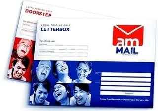 AM mail - Letterbox and Doorstep Delivery - Singpost Envelope Express Delivery