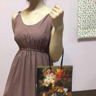 🚚 藕粉小洋裝