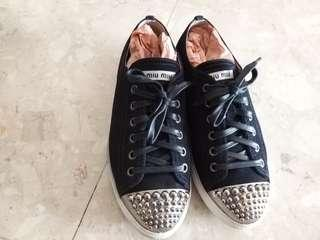 Miu Miu Canvas Sneaker. no box